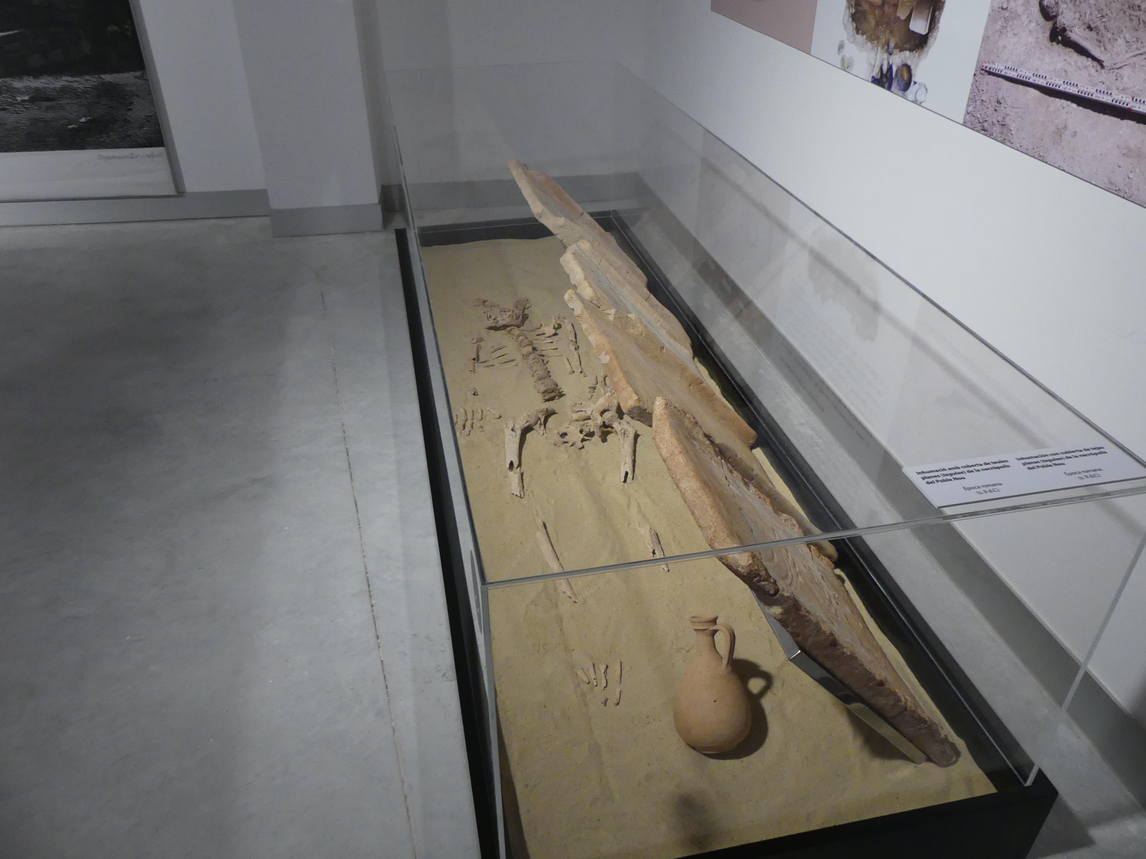 Restos hallados en la excavación del Poble Nou.